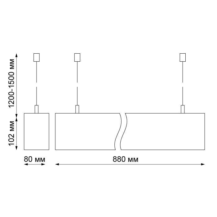 Двунаправленный подвесной светодиодный светильник Mix -  фото 3