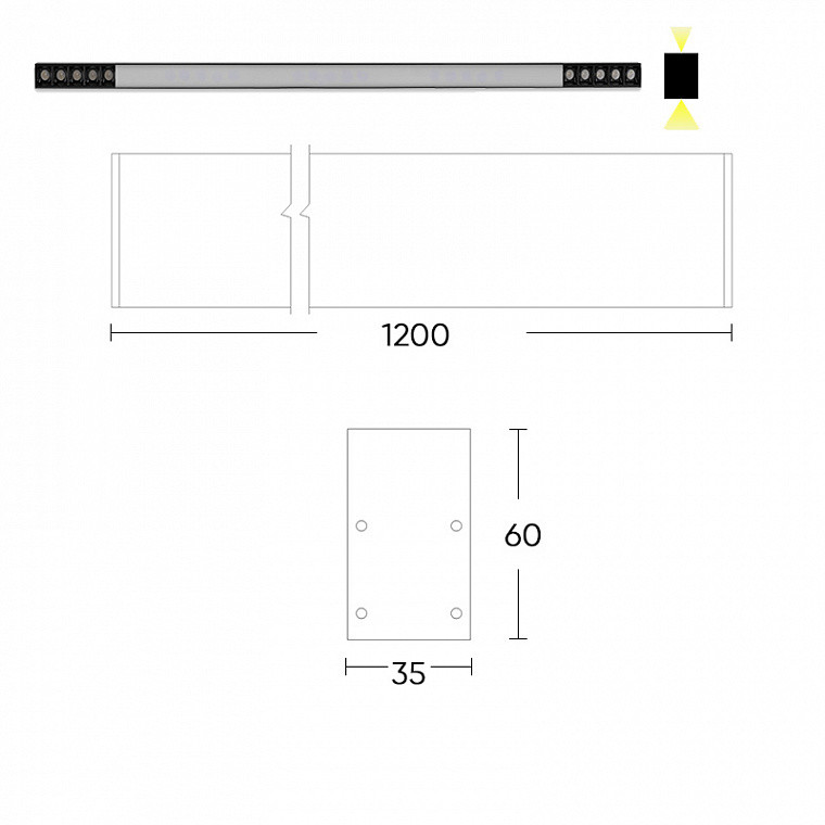 Двунаправленный светодиодный светильник Balk L 11  2 sides -  фото 7