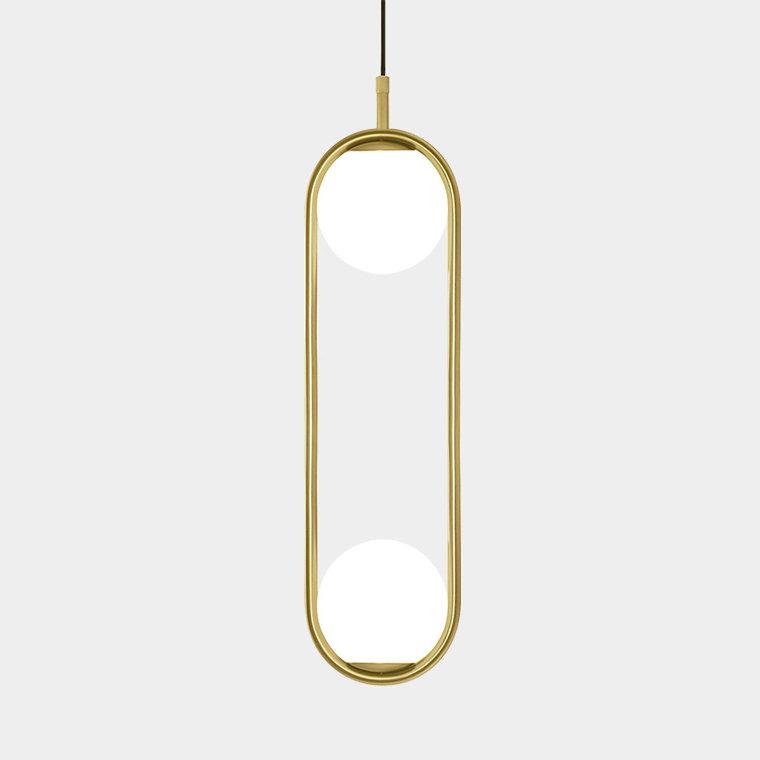 Hoop duo -  фото 1 подвесной светильник с шарами