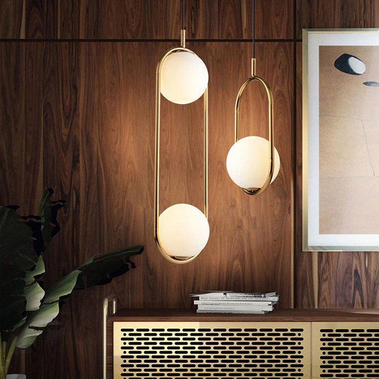 Hoop duo -  фото 5 подвесной светильник шар