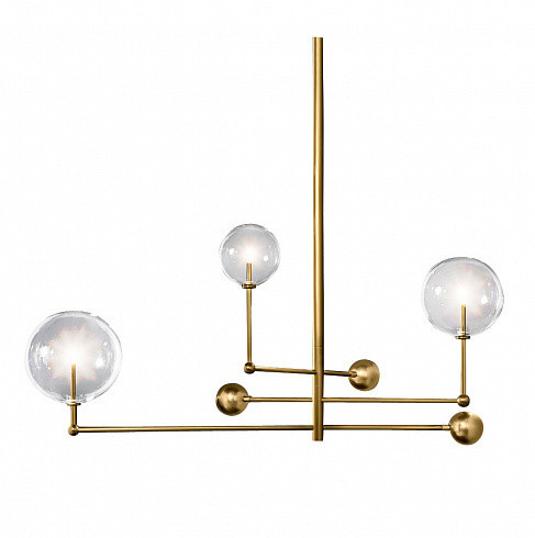 Люстра Delight Collection Globe Mobile 3 brass -  фото 1