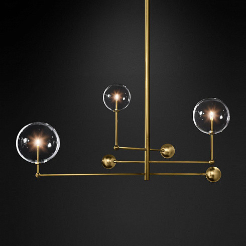 Люстра Delight Collection Globe Mobile 3 brass -  фото 2