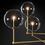 Люстра Delight Collection Globe Mobile 3 brass -  фото 3