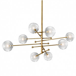 Люстра Delight Collection Globe Mobile 8 brass