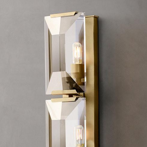 Настенный светильник Delight Collection Harlow Crystal A2 gold -  фото 2
