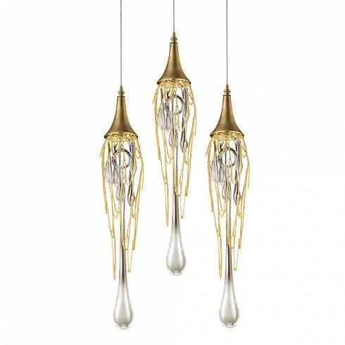 Подвесной светильник Delight Collection Goddess Tears 3R gold -  фото 1