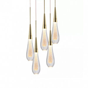 Подвесной светильник Delight Collection Pour 5 gold