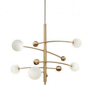 Люстра Delight Collection Globe Mobile 5 brass