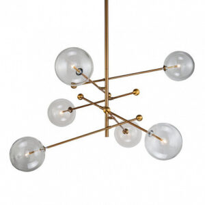 Люстра Delight Collection Globe Mobile 6 brass