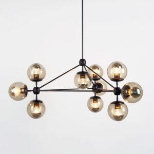 Люстра Modo Chandelier 10 Globes Black