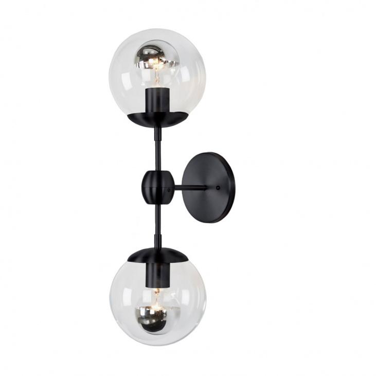 Бра Modo Sconce 2 Globes Black -  фото 1