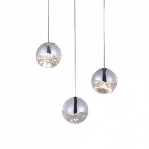 Подвесной светильник Delight Collection Globo 3U nickel