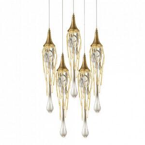 Подвесной светильник Delight Collection Goddess Tears 5R gold