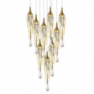 Подвесной светильник Delight Collection Goddess Tears 9 gold