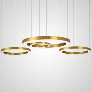 Подвесной светодиодный светильник  Hoop gold all