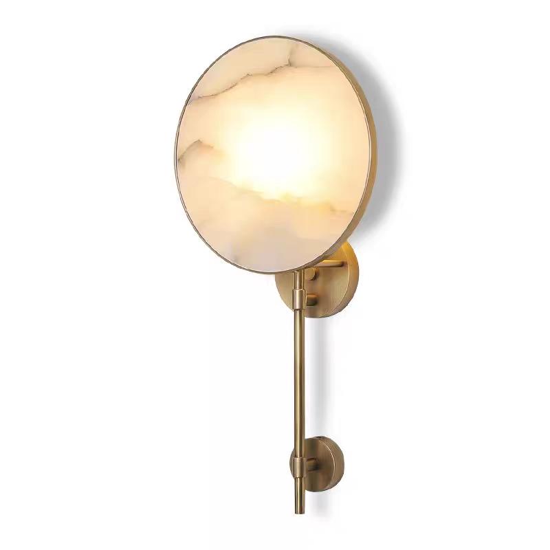 ZARA L brass, бра с камнем