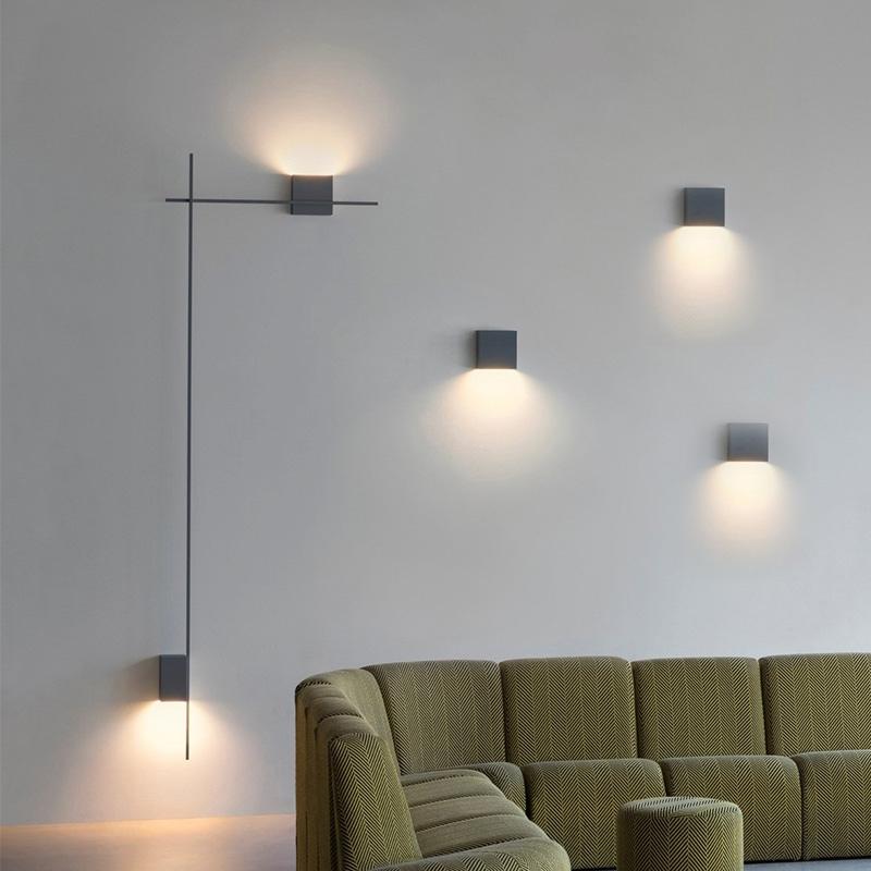 Burton стильный черный  светильник на стену