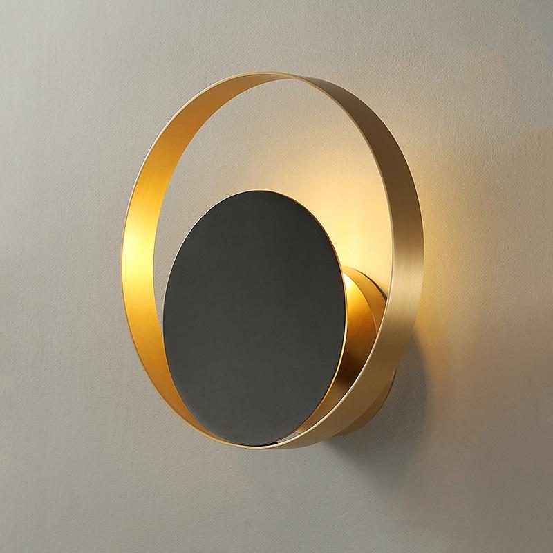 круглый латунный светильник