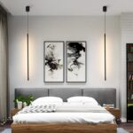 светильник у кровати, подвес, черный