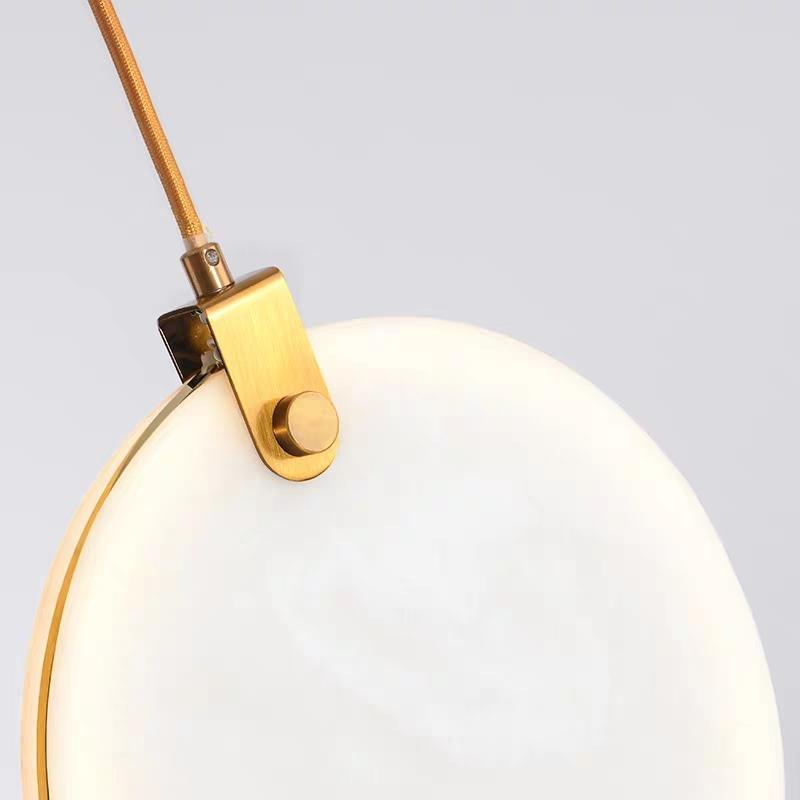 круглый плоский светильник MARBLE