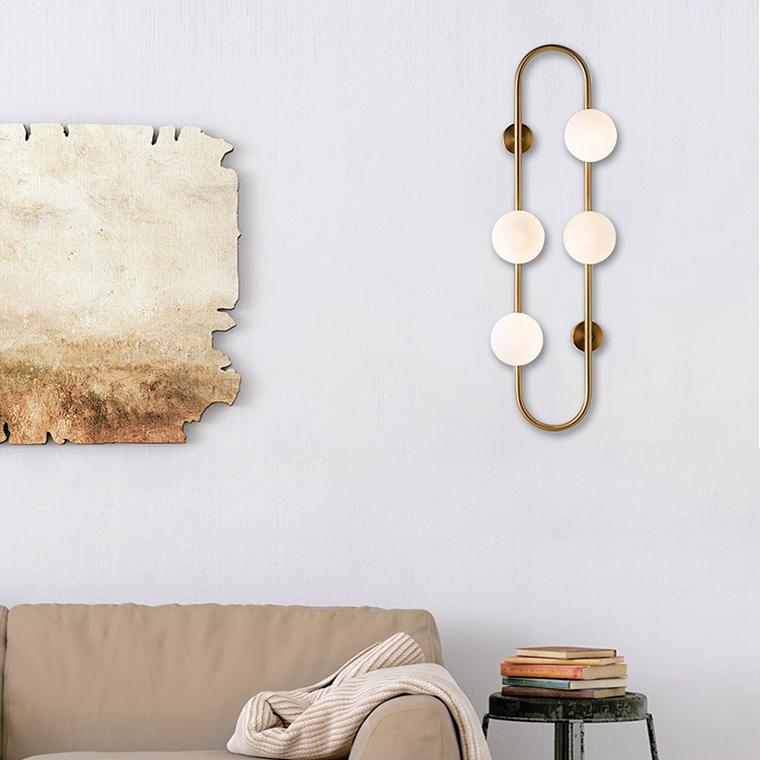 светильник высокий, дизайнерская бра