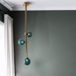 Светильник MOTEL A, зеленый плафон в интерьере