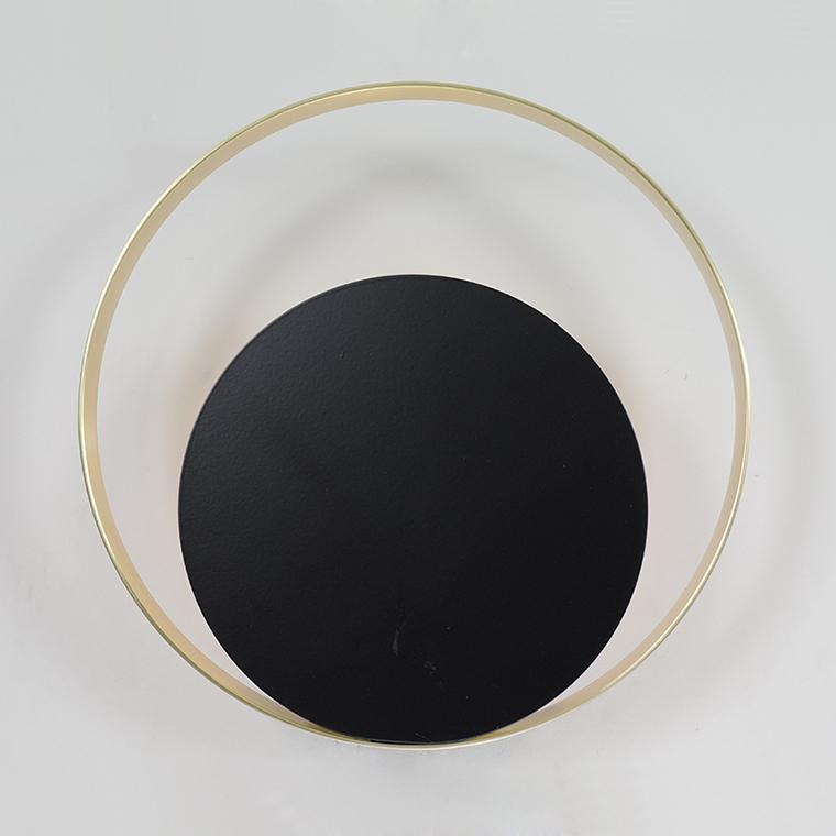 черный светильник круглый