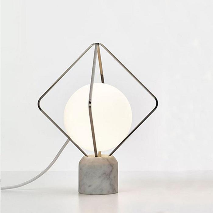 Настольная лампа Adamas Tab хром