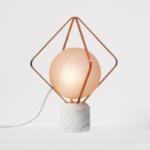 Настольная лампа Adamas Tab розовое золото