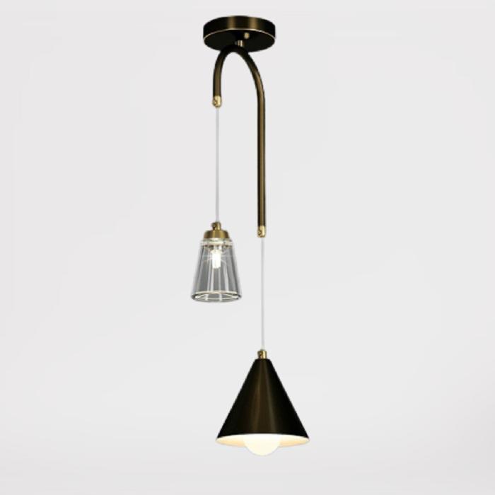 Подвесной светильник Adriel латунь + черный
