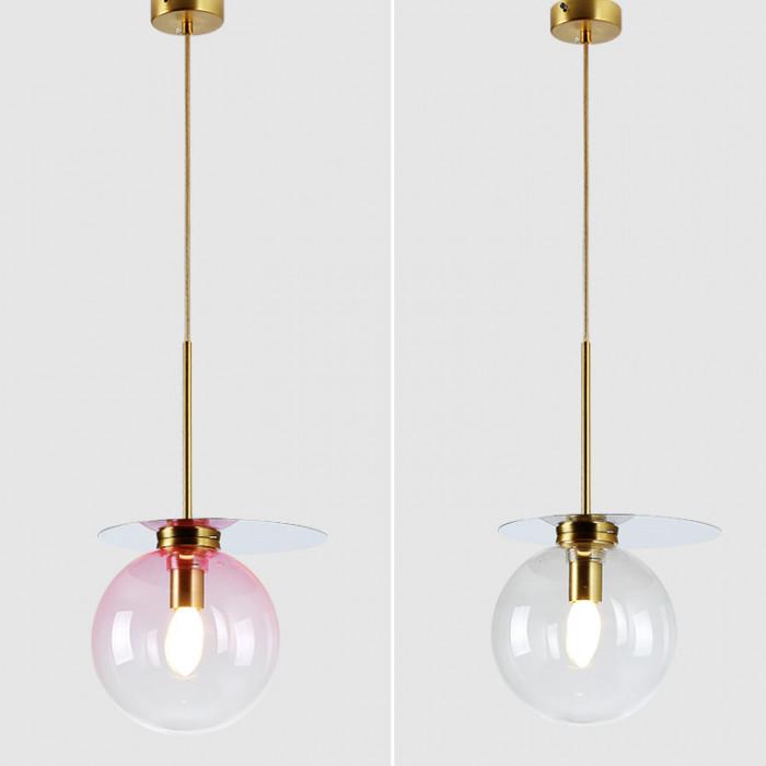 Подвесной дизайнерский светильник Comet розовый