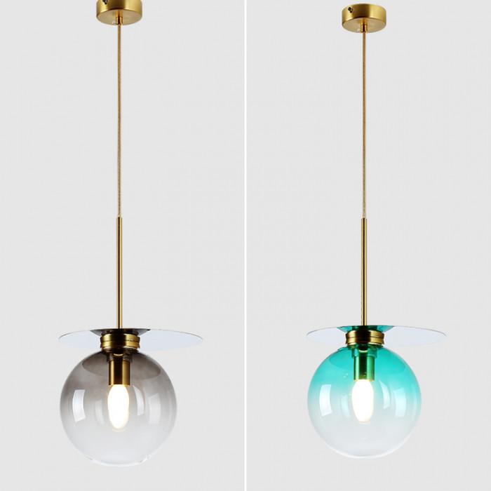Подвесной дизайнерский светильник Comet зеленый