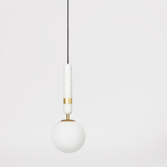 Подвесной светильник Noel A белый + латунь
