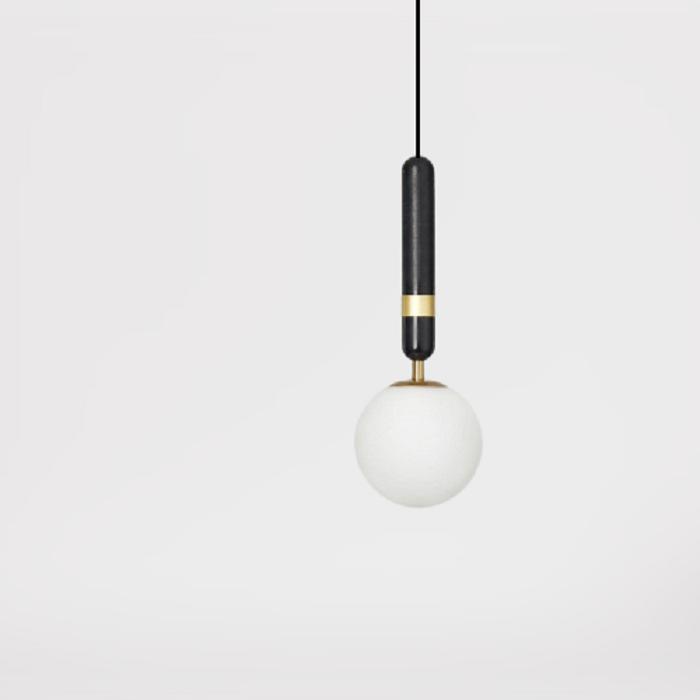 Подвесной светильник Noel B черный + латунь