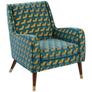 Кресло Contrasting Color сине-желтый