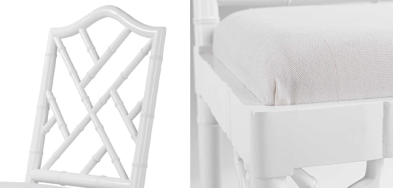 White Chippendale Chair  - фото 2