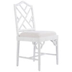 White Chippendale Chair  - фото 1