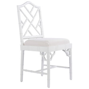White Chippendale Chair