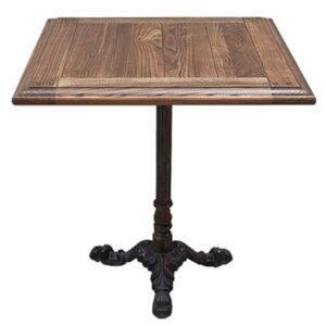 Стол для ресторана Cast iron and Oak restaurant table square