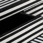Стол Black&white Indian Bone Inlay table  - фото 3