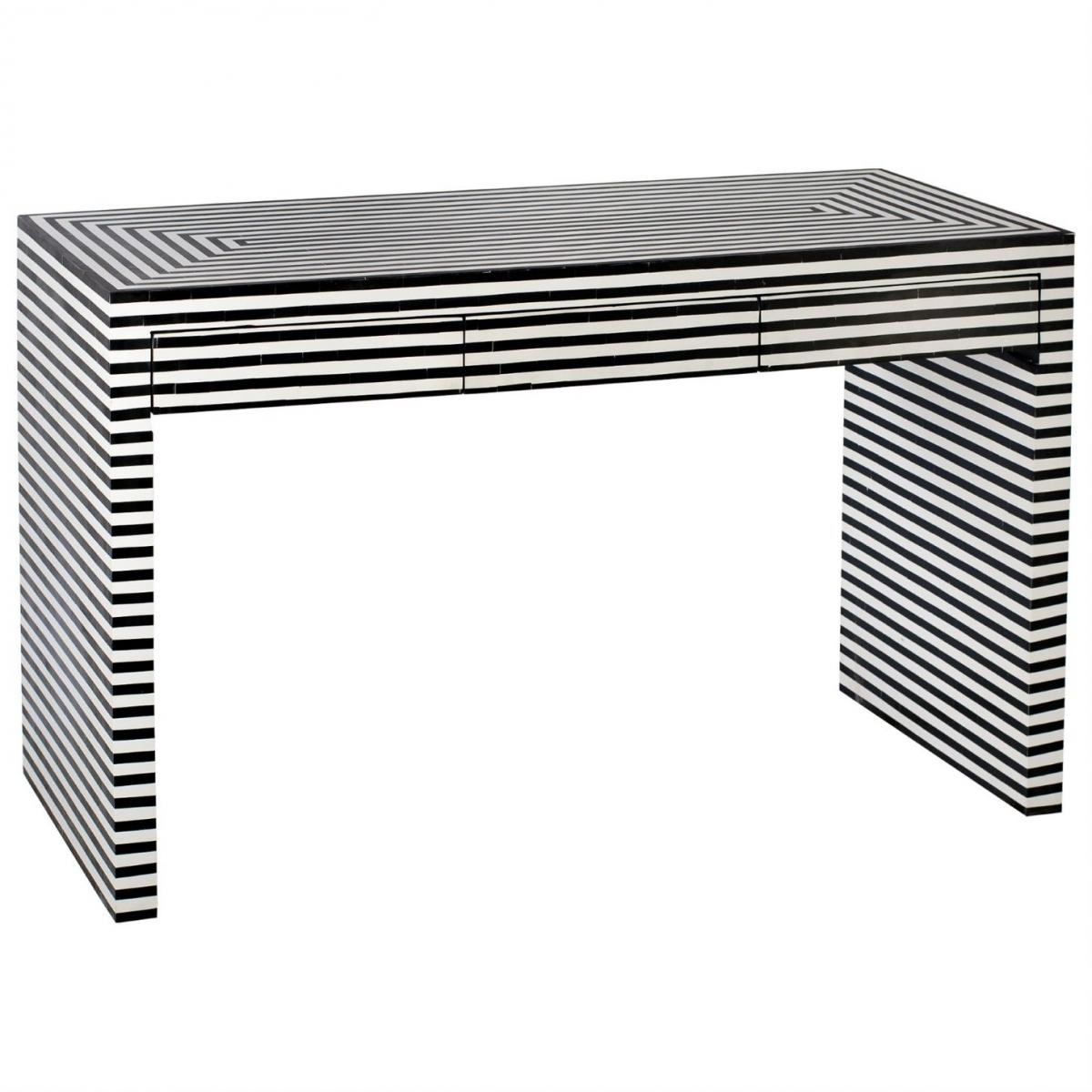 Стол Black&white Indian Bone Inlay table  - фото 1