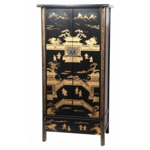 Китайский шкаф Black Gold Cabinet