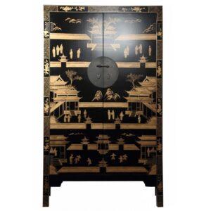 Китайский шкаф Black Gold Cabinet Low