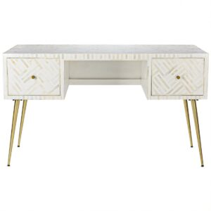 Стол Cream Indian Bone Inlay table