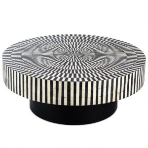 Журнальный стол Round Indian Bone Inlay coffee table