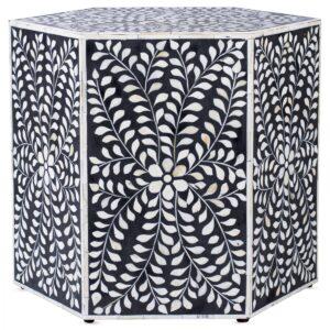 Табурет Inlaid Bone Hexagon