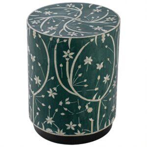 Табурет Green Flower Indian Bone Inlay stool