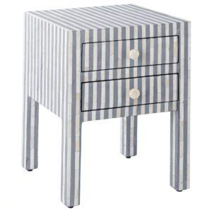 Тумбочка Indian striped Bone Inlay nightstand
