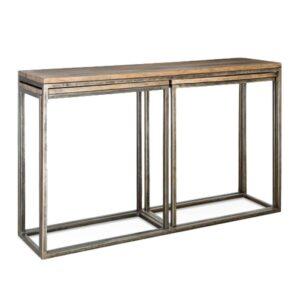 Консоль Industrial Metal Rust Triple Console Table