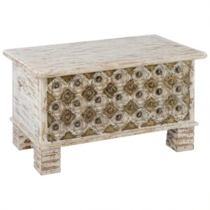 Сундук Antique Indian chest with pearls